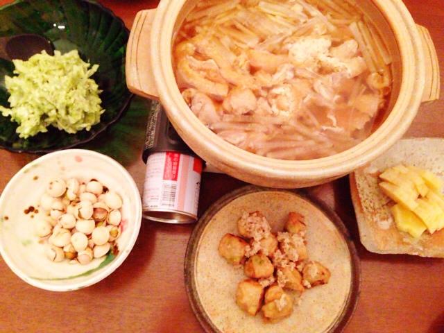 夫が作った晩御飯:鳥と大根の塩麹鍋_d0339885_13040802.jpg