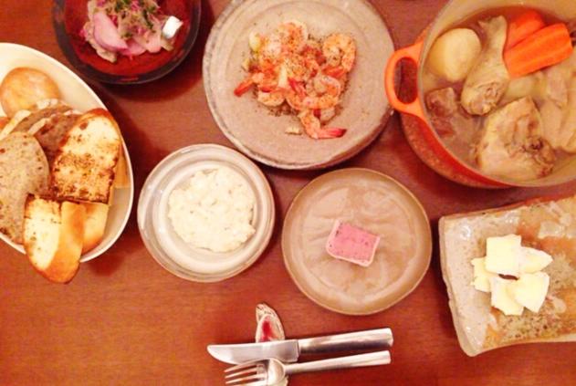 夫が作った晩御飯:茄子とクリームチーズのディップ_d0339885_13043162.jpg
