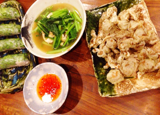 夫が作った晩ご飯:大きいなめこの天ぷら_d0339885_13044489.jpg