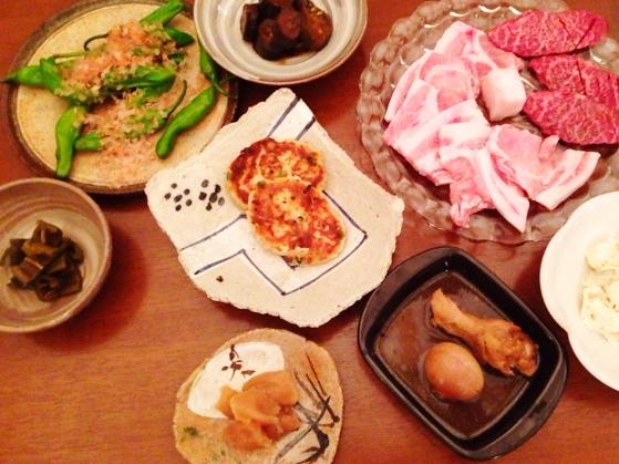 夫が作った晩ご飯:ししとう油炒め_d0339885_13045407.jpg