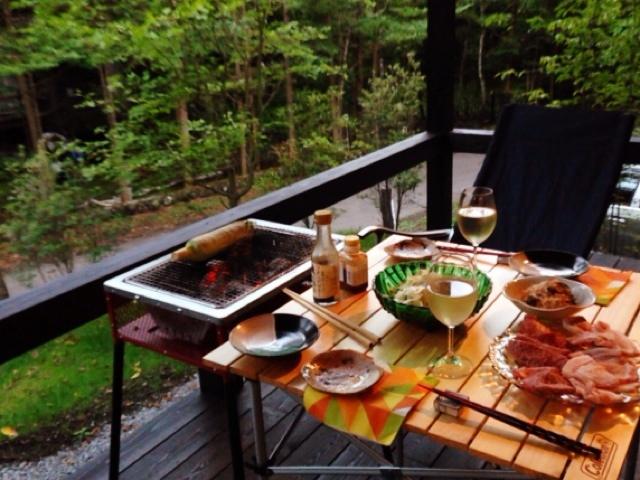 夫が作った晩ご飯:BBQ_d0339885_13045504.jpg