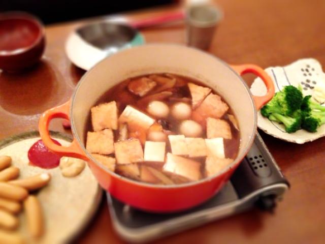 夫が作った晩ご飯:まめぶ汁_d0339885_13045628.jpg