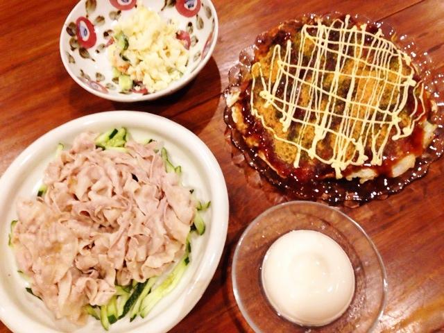 夫が作った晩ご飯:うんぺいろう_d0339885_13045887.jpg