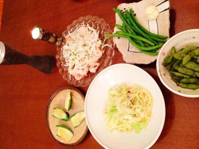 夫が作った晩ご飯:セビーチェ_d0339885_13052289.jpg