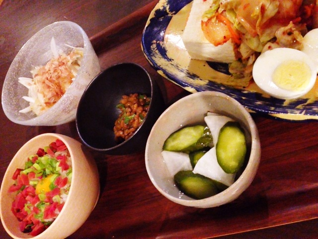 今日の私が作った晩御飯:またまたキャベツキムチやっこ_d0339885_13053430.jpg