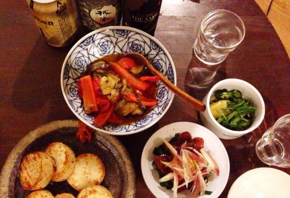 夫が作った晩ご飯:山脇りこさんの暮しの手帖レシピの和え物_d0339885_13061122.jpg