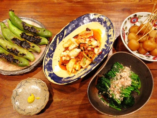夫が作った晩ご飯:焼きそら豆_d0339885_13070052.jpg