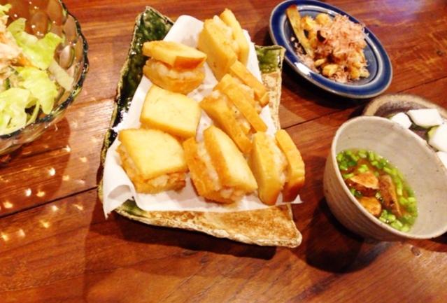 夫が作った晩ご飯:海老パン_d0339885_13070750.jpg