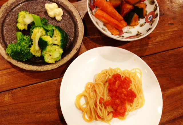 夫が作った晩ご飯:アラビアータ_d0339885_13072449.jpg