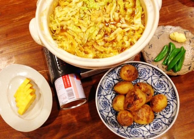 夫が作った晩ご飯:カレー鍋_d0339885_13074792.jpg
