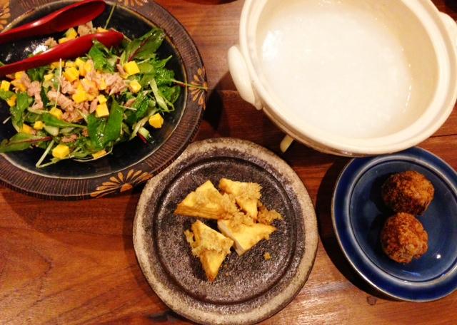 夫が作ったブランチ:土鍋でお粥_d0339885_13081318.jpg