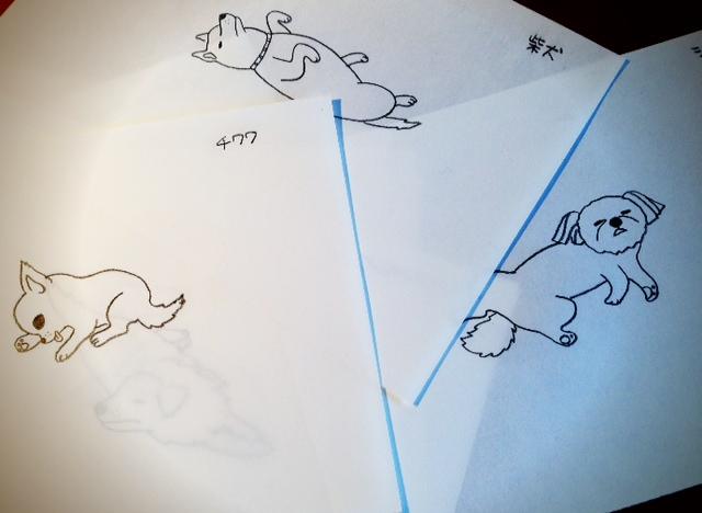 犬、描き過ぎた_d0339885_13450963.jpg