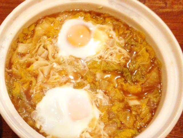 夫が作ったブランチ:尾崎ファームの白菜で、ほうとう_d0339885_13451832.jpg