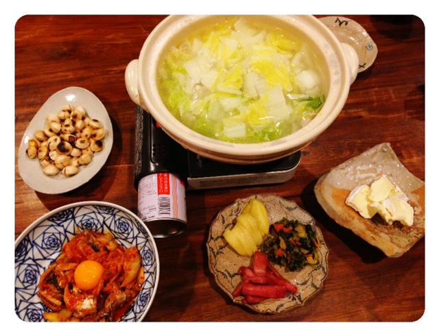 夫が作った晩ご飯:発酵祭り(^-^)/_d0339885_13453102.jpg