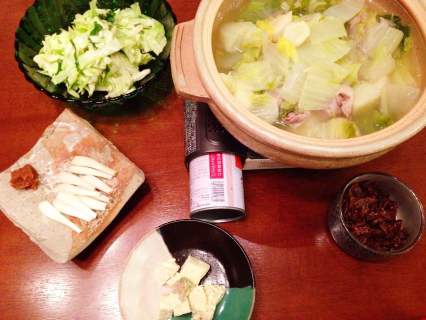 夫が作った晩ご飯:久しぶりなごはんはシンプルー_d0339885_13454629.jpg