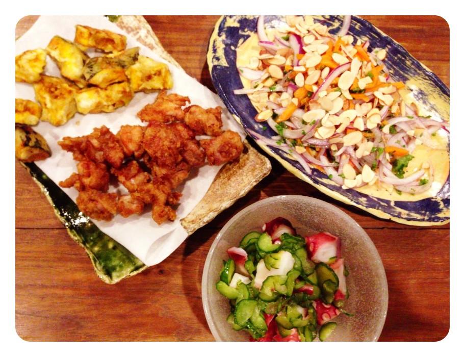 夫が作った晩ご飯:鳥の唐揚げ_d0339885_13455606.jpg