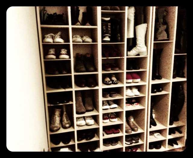 靴棚を断捨離:持ってる靴が全て見えるっていいなー_d0339885_13455867.jpg