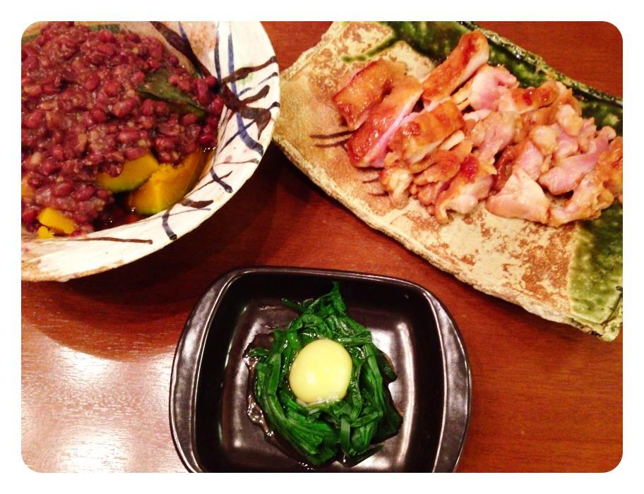 夫が作った晩ご飯:カボチャと小豆のいとこ煮_d0339885_13460631.jpg