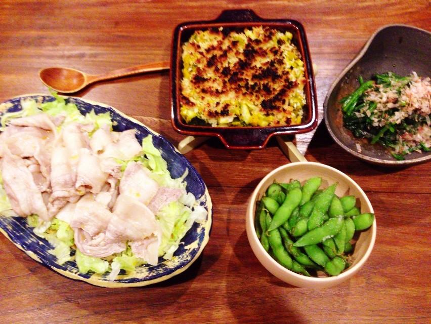 夫が作った晩ご飯:カボチャのコロッケ風_d0339885_13461562.jpg