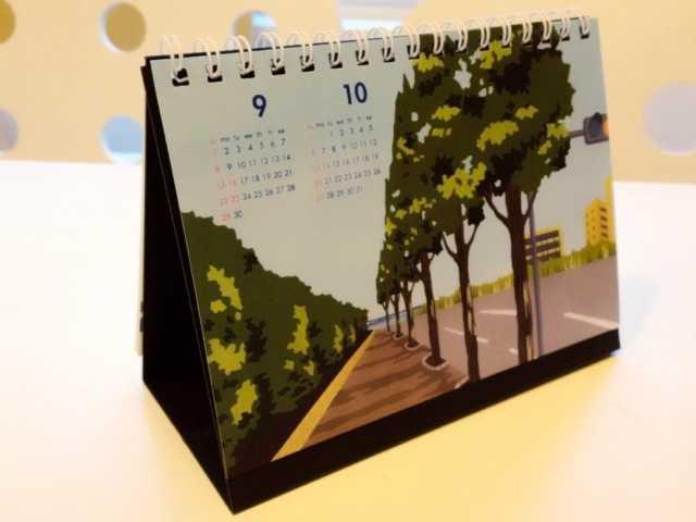 2013年卓上カレンダー:10/2~個展で販売するグッズ(2)初日の一般公開は10~18時_d0339885_13462754.jpg