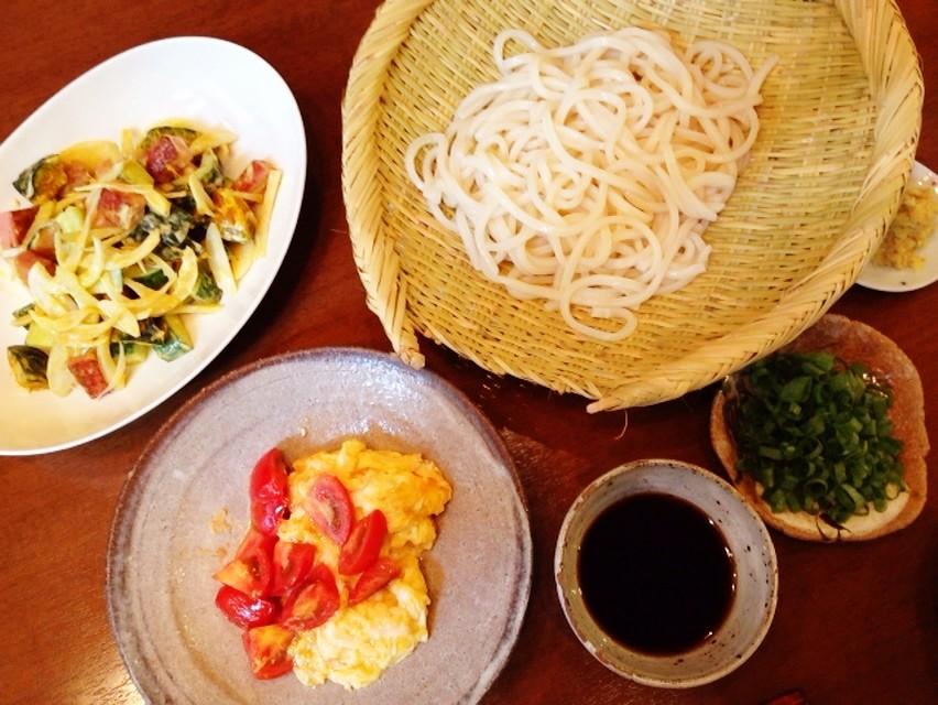 スパムと夏野菜のマスタード風味サラダ_d0339885_13465888.jpg