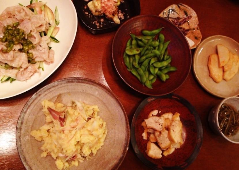 夫の作った晩ご飯:タラモサラダ_d0339885_13470311.jpg