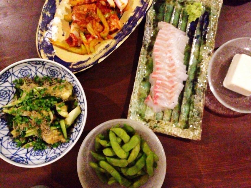 夫の作った晩ご飯:蒸し枝豆_d0339885_13471493.jpg