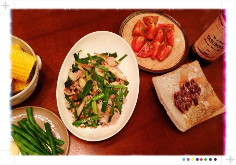 夫の作った晩ご飯:阿川佐和子さんレシピをアレンジ_d0339885_13473103.jpg