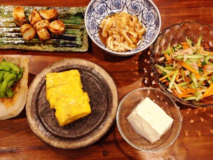 夫の作った晩ご飯:卵焼き_d0339885_13473435.jpg