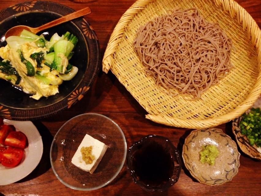 夫の作ったブランチ:青梗菜と卵炒め_d0339885_13474477.jpg