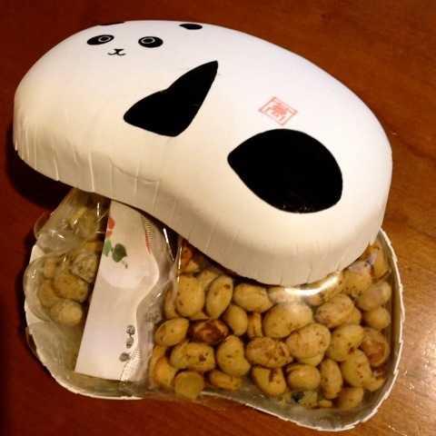 節分にいいと思う、豆型パンダうつわに入った豆@まめや金澤萬久_d0339885_13484126.jpg