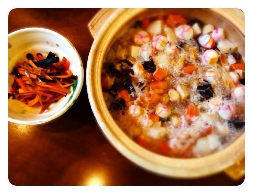 福島の郷土料理に挑戦してみた(夫が):こづゆ,いかにんじん_d0339885_13484709.jpg