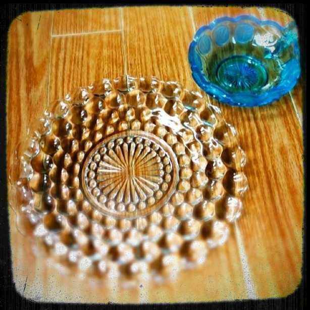 キラキラした1960年代の海外のガラスの器@谷中 韋駄天_d0339885_13485975.jpg