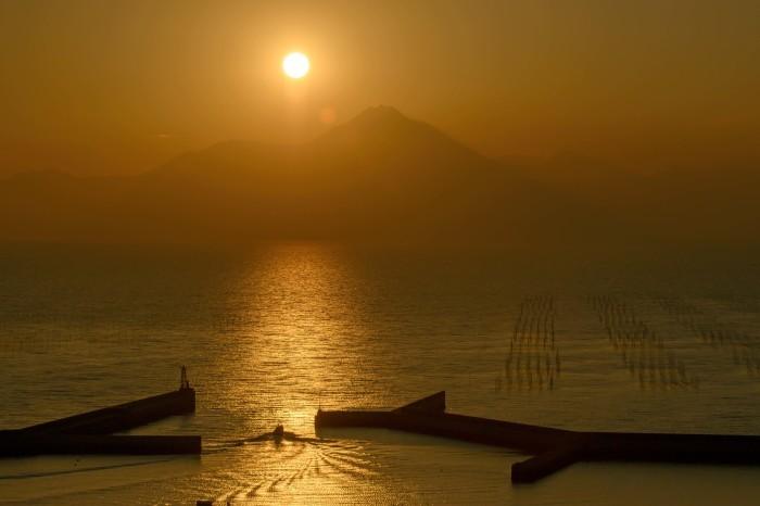 有明海の夕暮れ_d0238245_22221814.jpg