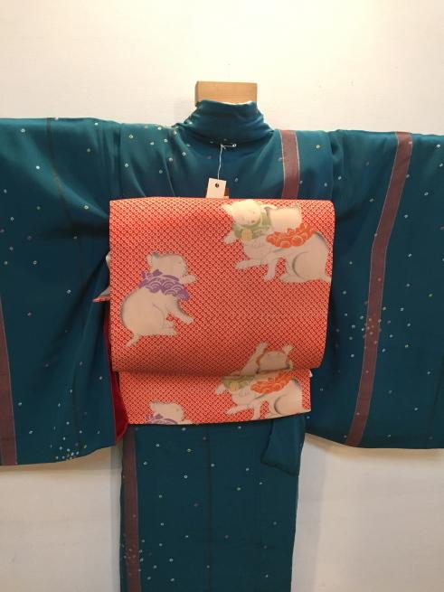 「今昔きもの市」藤着物・ドット鹿の子着物♪販売商品14_c0321302_00423389.jpg