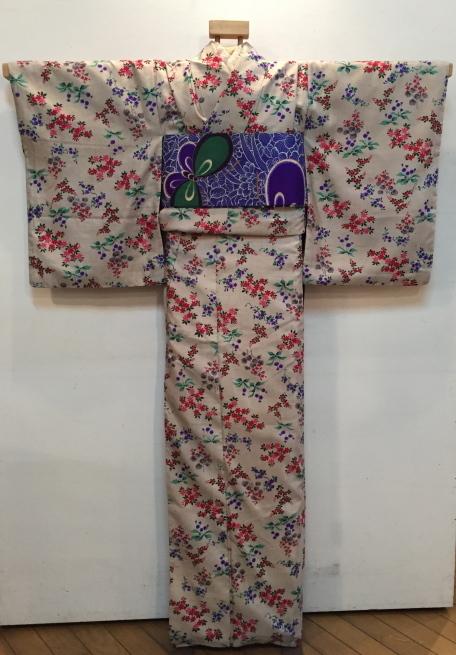 「今昔きもの市」白小花紬・水色椿着物♪販売商品18_c0321302_01165441.jpg