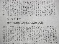 瀬戸内さんの最新の小説はSEALDs_c0133422_0405540.jpg