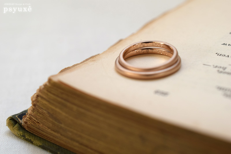 細いマット仕上げの結婚指輪_e0131432_11325913.jpg