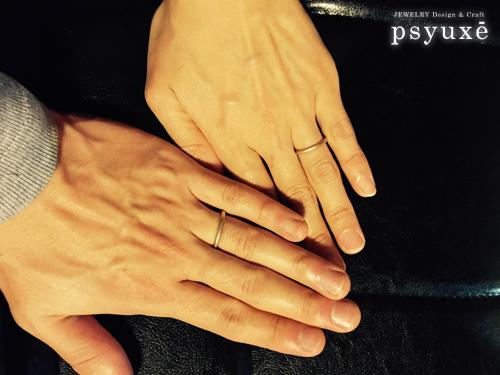 細いマット仕上げの結婚指輪_e0131432_11331506.jpg