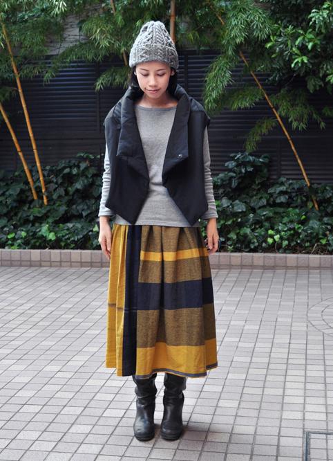 wide pants&powan skirt(wool) / tamaki niime_d0193211_17311112.jpg