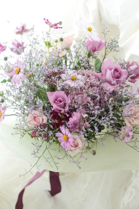 ご両親への贈呈花 秋の花束、春のアレンジ _a0042928_10153571.jpg