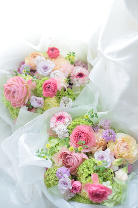 ご両親への贈呈花 秋の花束、春のアレンジ _a0042928_1020915.jpg