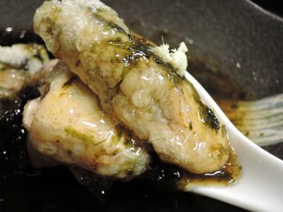 牡蠣豆腐オサノリあん_f0157910_13332563.jpg