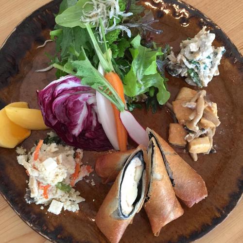 「焼き豆腐と林檎とクリームチーズの春巻き」_a0251920_12064225.jpg