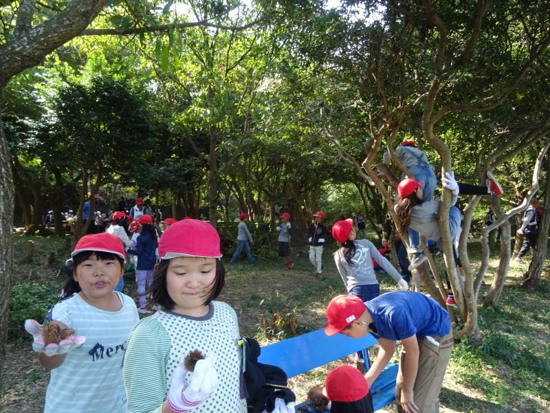 東光小学校4年生遠足「里山体験」サポート in うみべの森_c0108460_21472539.jpg