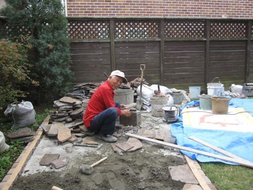 お庭の工事やっと終了です。_e0350927_16401483.jpg