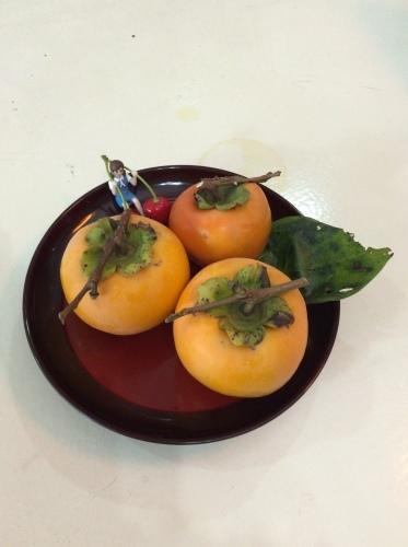 柿のおすそ分け_d0337981_16401124.jpg