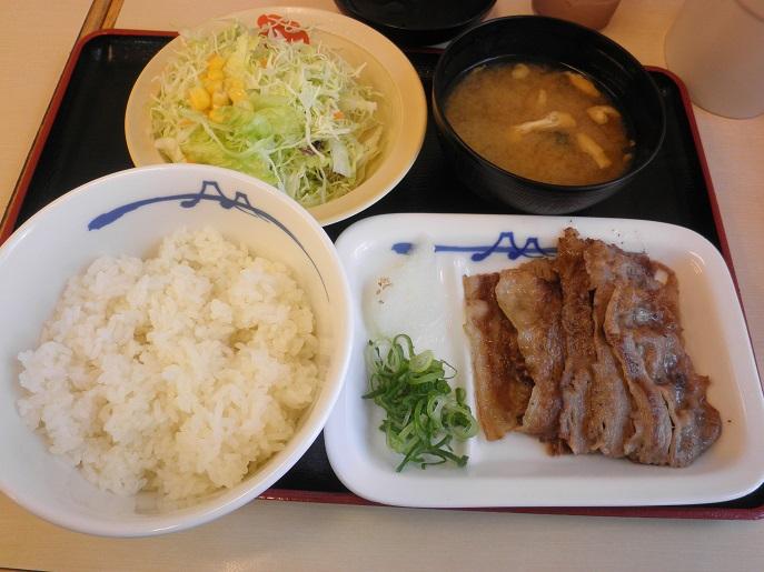 松屋の牛焼肉定食    布施南店_c0118393_9181487.jpg