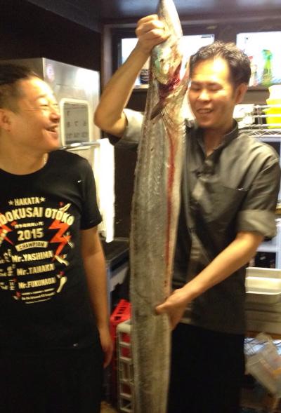 太刀魚!でかっ! by春吉店_f0232994_11444860.jpg