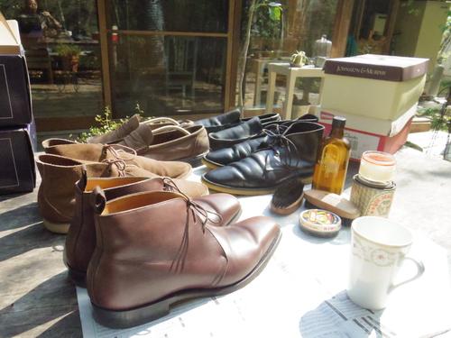 秋晴れの午前は靴を磨く。_d0087595_11522540.jpg